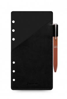 Filofax Personal Pen Loop - A6 Stifthalterung Schwarz + Kugelschreiber 131006