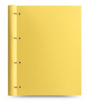 Filofax Clipbook A4 Notizbuch Classic Lemon Gelb Ringbuch Ringmappe Mappe 144004