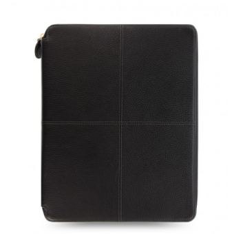 Filofax A4 Schreibmappe Leder Konferenzmappe Classic Stitch ZIP Schwarz 840030