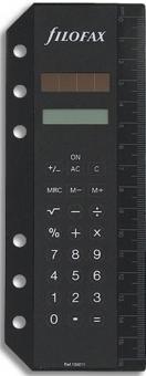 Filofax Solarrechner Personal Schwarz Einheftbar A6 A5 Kunststoff Rechner 134011