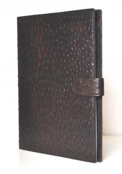 Succes Struzzo A4 Schreibmappe Braun 20mm Kalbsleder 4er Ringmechanik PB150SZ01