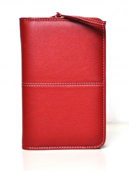Succes Cadiz Stitch Standard Rot Leder 20mm RV Organizer A6 Zeitplaner PT243CH12