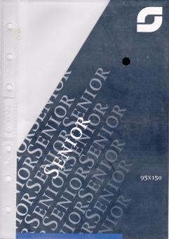 Succes Senior Sichthülle für Visitenkarten 2 Klarsichthüllen transparent XS184