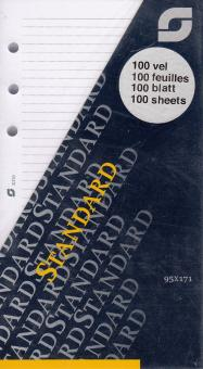 Succes Standard Notizpapier Liniert weiß 100 Blatt Organiser A6 Einlage XT10
