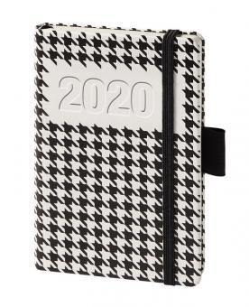 bsb A6 Buchkalender 2020 Terminkalender Schwarz Weiß 1Woche 2Seiten Timer 020194