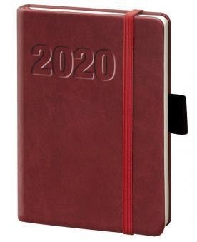 bsb A5 Buchkalender 2020 Terminkalender Rot 1Woche 2Seiten Wochenkalender 020147