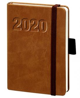 bsb A5 Buchkalender 2020 Terminkalender Braun 1Woche 2Seiten Kalender 02-0148