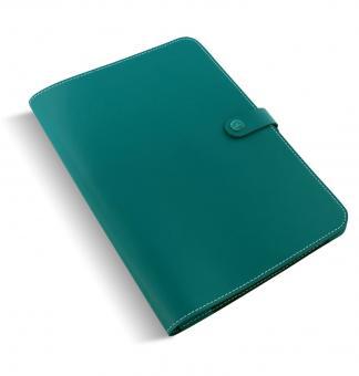 Filofax A4 Leder Konferenzmappe Schreibmappe The Original Dark Aqua Blau  829948