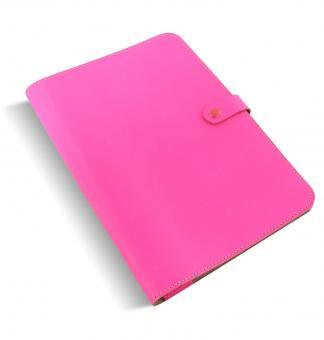 Filofax The Original Folio A4 Fluro Pink Notebook Konferenz -Schreibmappe 829949