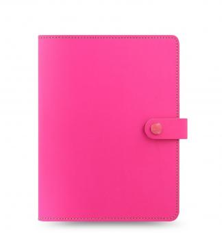 Filofax The Original Folio A5 Fluro Pink Notebook Konferenzmappe VL Leder 829951