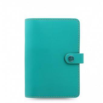 Filofax The Original Personal Turquoise Türkis Organiser Leder A6 Kalender 22597
