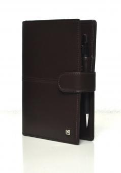 Time/system Milano Compact Braun Ringbuch 20mm Organiser Rindsleder 59212