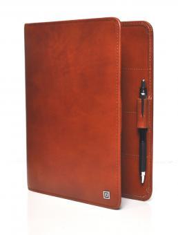 Time/system Oxford A5 Braun Ringbuch offen Business 25mm Organiser Leder 56218
