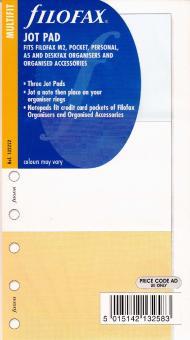 Filofax Multifit JOT PAD Notizpapier Notizen Einlage Organiser Zeitplaner 132222