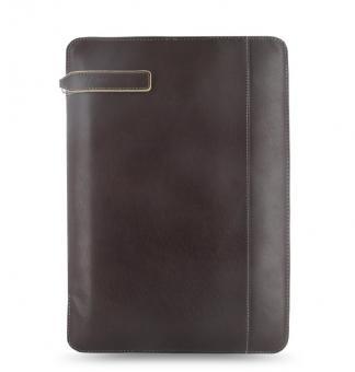 Filofax Holborn A4 Braun Zip Folder Konferenzmappe Leder Schreibmappe 827343