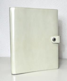 Succes Prestige Schreibmappe A4 Weiß/Creme Leder 20mm Konferenzmappe PB148ES10