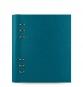 Filofax Clipbook A5 Petrol Blue Kunstleder 023612 Notizbuch Blau mit 6er Ringung