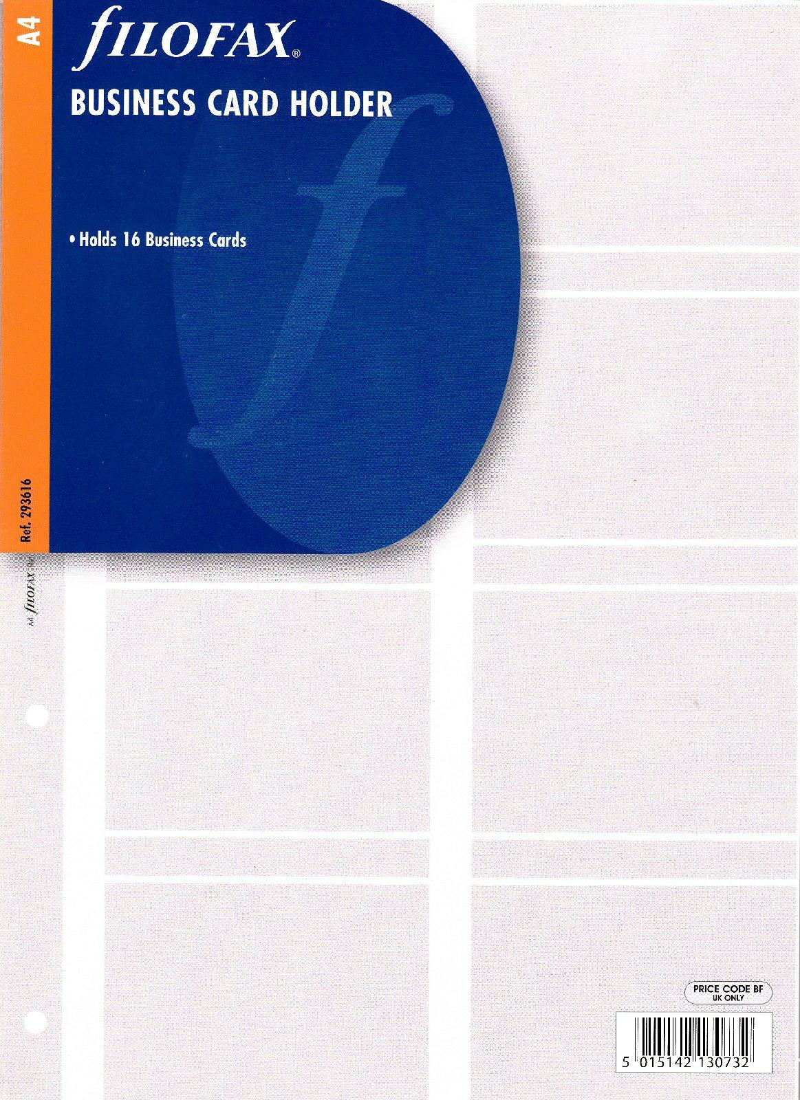 Organiser De Filofax A4 Visitenkarten Hülle Sichthülle