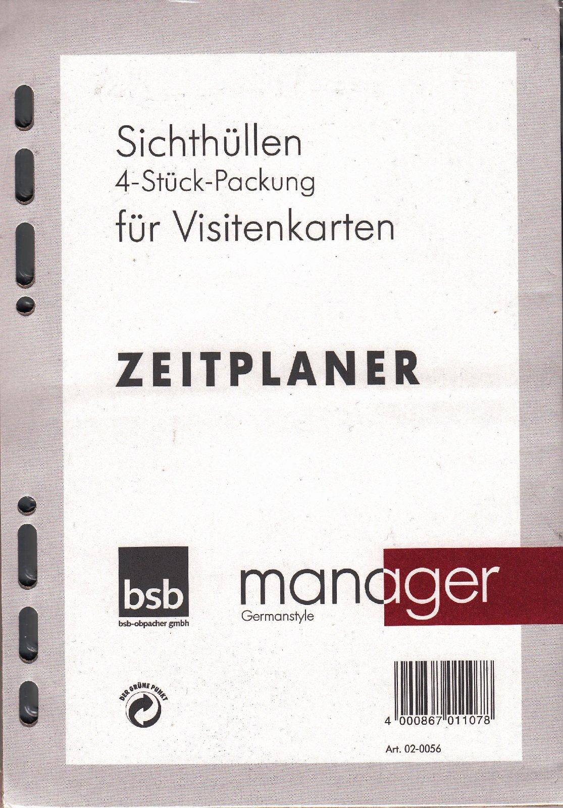 Organiser De Bsb Manager A5 Organizer Einlage 4 Stück