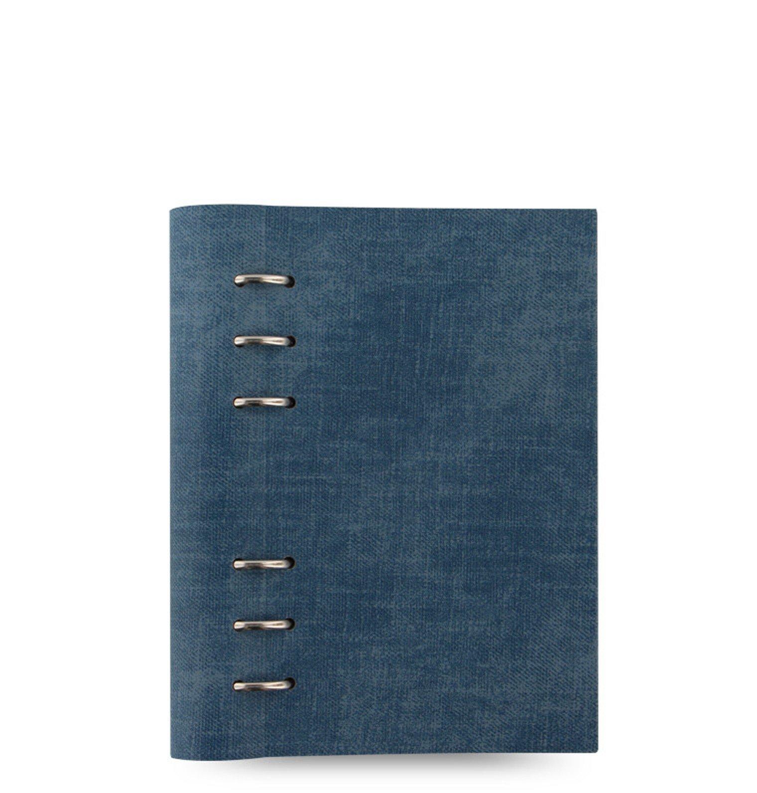 Filofax Clipbook Patterns Denim Personal 25mm A6 Notizbuch Jeansstoff 143002