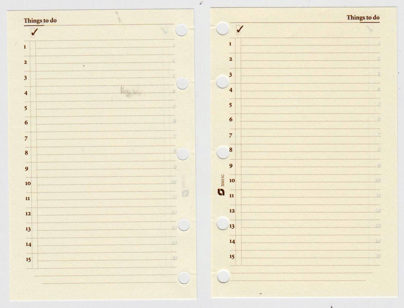 Succes Mini Notizpapier to Do Aufgaben Creme 100 Blatt A8 Timer Einlagen XM11C