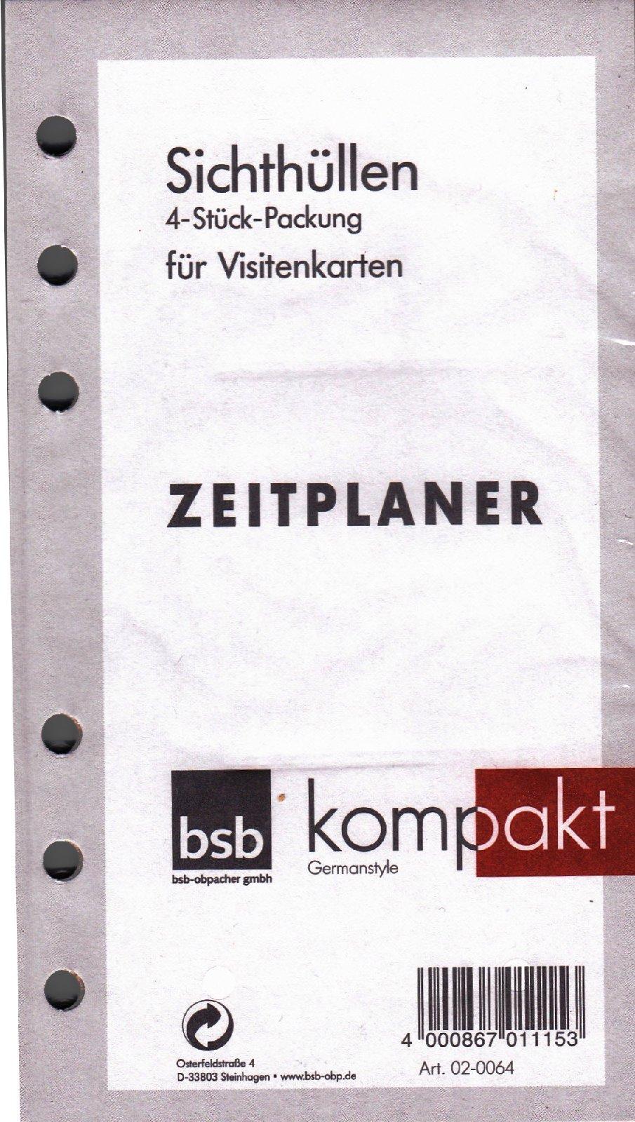 Organiser De Bsb Kompakt A6 Kalender Einlagen 4