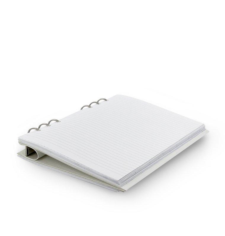 Filofax Clipbook A5 Weiß Kunstleder Notizbuch 6er Ringung nachfüllbar 023610