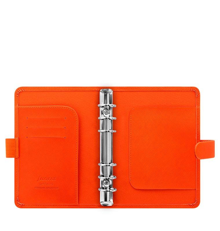 filofax saffiano personal bright orange terminplaner 23mm. Black Bedroom Furniture Sets. Home Design Ideas