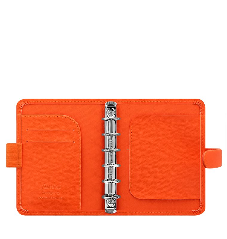 filofax saffiano pocket bright orange. Black Bedroom Furniture Sets. Home Design Ideas