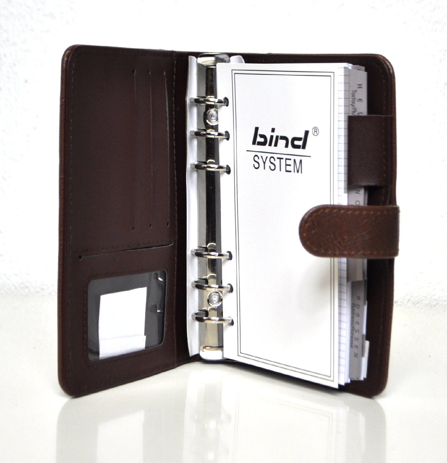 A6 Terminkalender LEDER Organizer Agenda Kalender BIND Systemplaner Planer